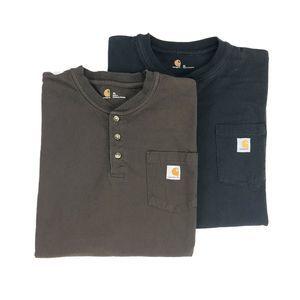 Carhartt Long Sleeve Henley T-Shirt Bundle Men's